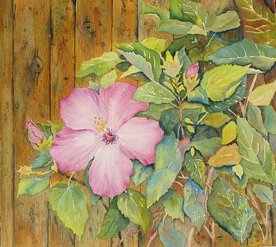 Painting - Summer Hibiscus by Arlys Hefty