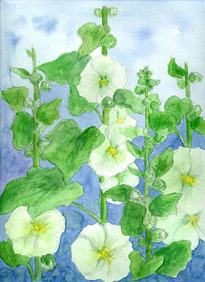 Painting - Summer Hollyhocks by Cathie Richardson