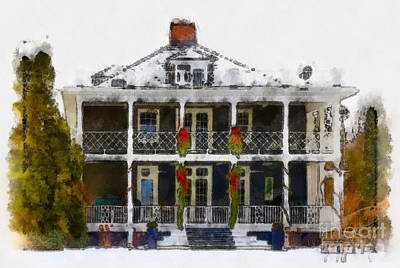 Photograph - Summer Home In Winter by Les Palenik