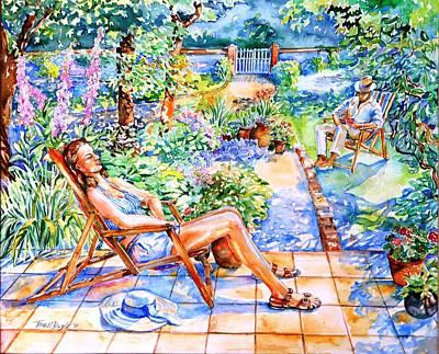 Summer In An Irish Garden  Original by Trudi Doyle