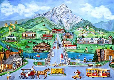 Banff Artist Painting - Summer In Banff by Virginia Ann Hemingson