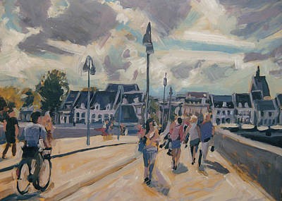 Sint Servaasbrug Painting - Summer In Maastricht by Nop Briex