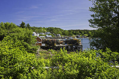 Coastal Maine Photograph - Summer In South Bristol On The Coast Of Maine by Keith Webber Jr