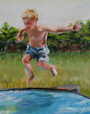 Wall Art - Mixed Media - Summer In The Backyard by Ellen Moore Osborne