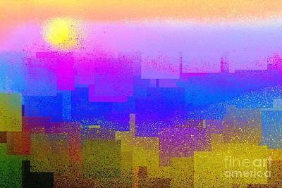 Digital Art - Summer In The City by Dale   Ford