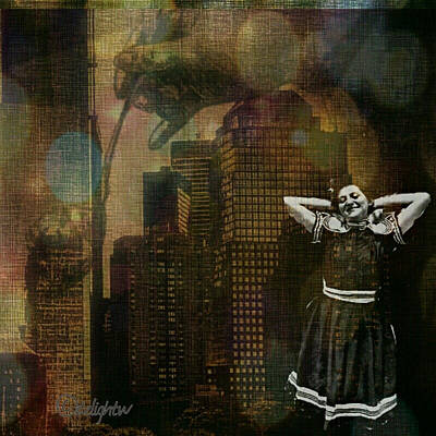 Digital Art - Summer In The City by Delight Worthyn