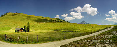 Alps Photograph - Summer In The Mountains Panorama by Sabine Jacobs