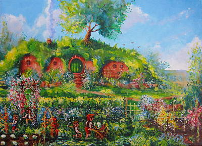 The Shire Painting - Summer In The Shire by Joe  Gilronan