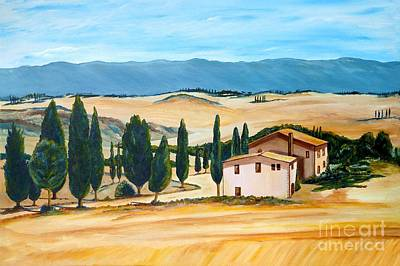 Acylic Painting - Summer In Tuscany by Christine Huwer