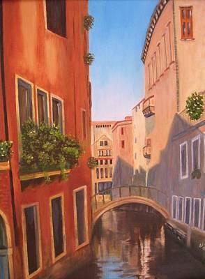 Summer In Venice Art Print by Edna Fenske