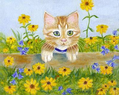 Painting - Summer Kitten by Jeanne Kay Juhos
