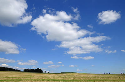 Photograph - Summer Landscape Blue Sky With Clouds by Matthias Hauser