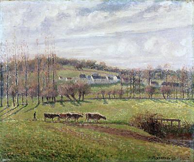 Summer Landscape. Eragny Print by Camille Pissarro
