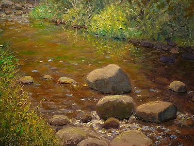 Painting - Summer Leith Stream  by Terry Perham
