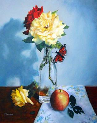 Glass Vase Painting - Summer Light by Jill Brabant