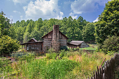 Photograph - Summer Log Cabin by Mary Almond