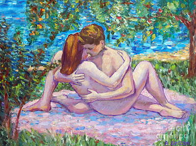 Love Making Painting - Summer Love by Alla Gerzon