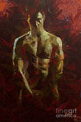 Nudes Painting - Summer Man by Dragica  Micki Fortuna