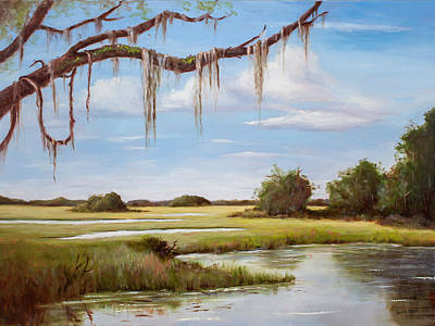 Painting - Summer Marsh by Glenda Cason