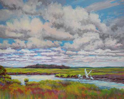 Herron Painting - Summer Marsh by Keith Burgess