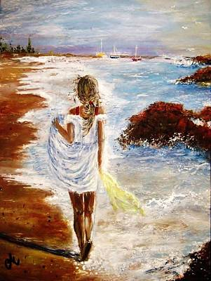 Art Print featuring the painting Summer Memories by Cristina Mihailescu