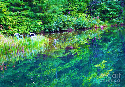 North Georgia Mountains Photograph - Summer Monet Reflections by Laura D Young