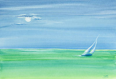 Summer Moonlight Sail Original