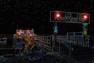 Summer Night At The Pier Print by David Lee Thompson