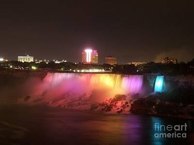Summer Night In Niagara Falls Art Print