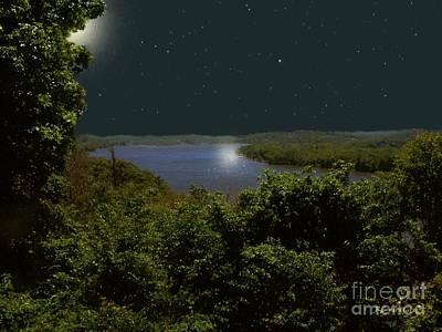 Connecticut Landscape Digital Art - Summer Night On Seventh Sister by RC deWinter