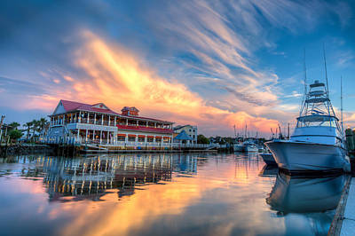 Mount Pleasant Photograph - Summer Nights On Shem Creek by Walt  Baker