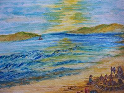 Art Print featuring the painting Summer/ North Wales  by Teresa White