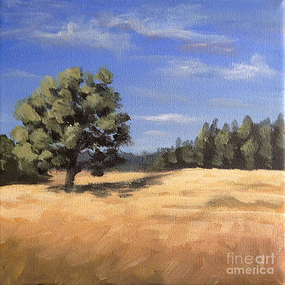 Painting - Summer Oak And Wheat Field by Ric Nagualero