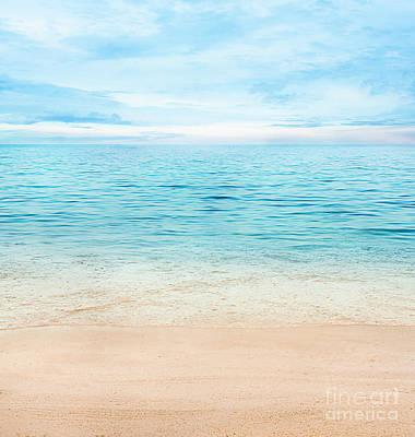 Summer Ocean Art Print by Mythja  Photography