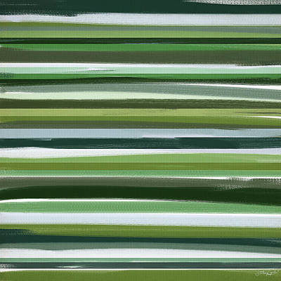 Light Green Abstract Painting - Summer Of Green by Lourry Legarde