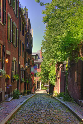 Autumn Scene Photograph - Summer On Acorn St. by Joann Vitali