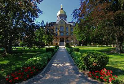 Of Indiana Photograph - Summer On Notre Dame Campus by Dan Sproul