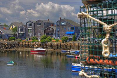 Row Boat Photograph - Summer On The Harbor by Joann Vitali