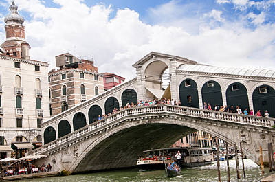 Photograph - Summer On The Rialto Bridge by Brenda Kean