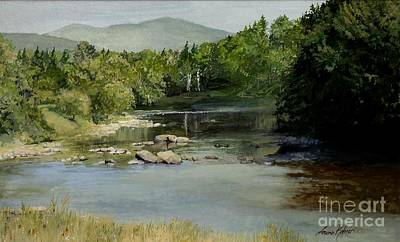 Painting - Summer On The River In Vermont by Laurie Rohner
