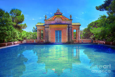Photograph - Summer Park With Water Pool by Michal Bednarek