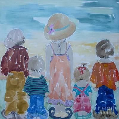 Summer Passes As Usual Art Print by Vicki Aisner Porter