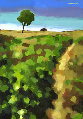 Pathway Painting - Summer Path by Douglas Simonson