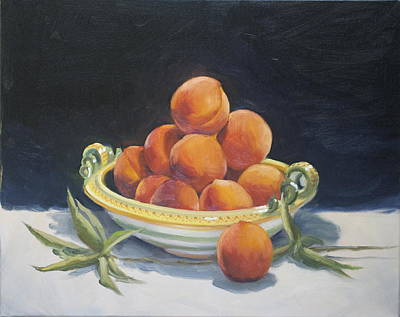 Painting - Summer Peaches by Roger Clark