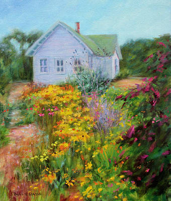Coneflower Painting - Summer Place- On The Outer Banks by Bonnie Mason