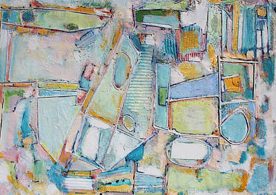 Hari E. Thomas Abstract Painting - Summer Playland by Hari Thomas