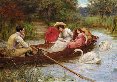 Digital Art - Summer Pleasures On The River by George Sheridan Knowles