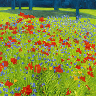 Painting - Summer Poppies by Rebecca Gottesman