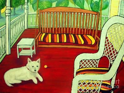 Mixed Media - Summer Porch by Doreen Kirk