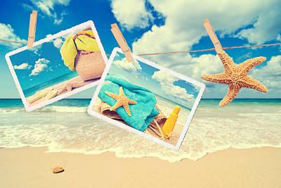 Summer Postcards Art Print by Amanda Elwell